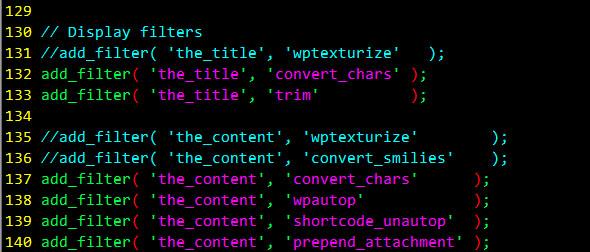 发文章之前我必须要把wordpress的字符串自动转义功能关掉关掉